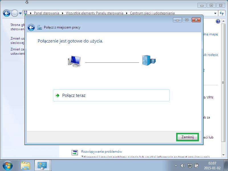 konfiguracja Windows XP VPN, na wspolnej tvn player