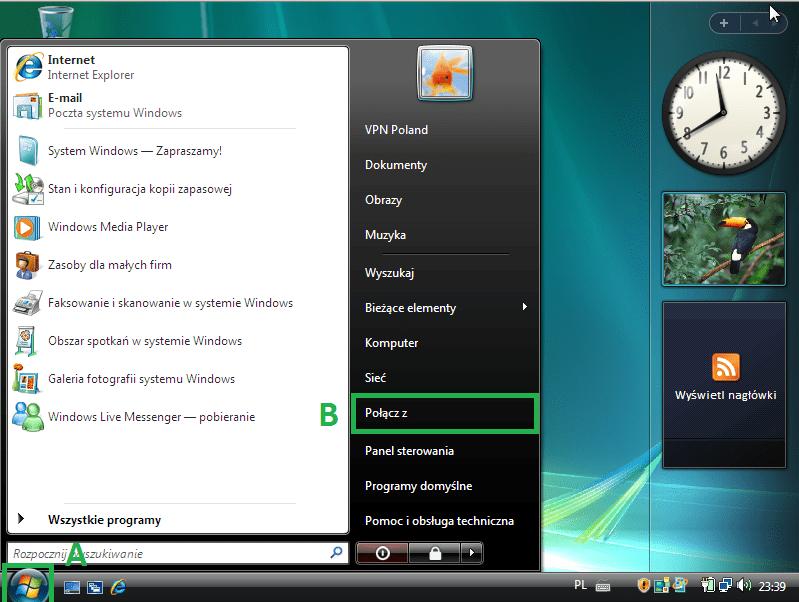 VPN na Windows, polska tv online, polska telewizja zagranicą, pptp, vpn do polski, vpn Niemcy
